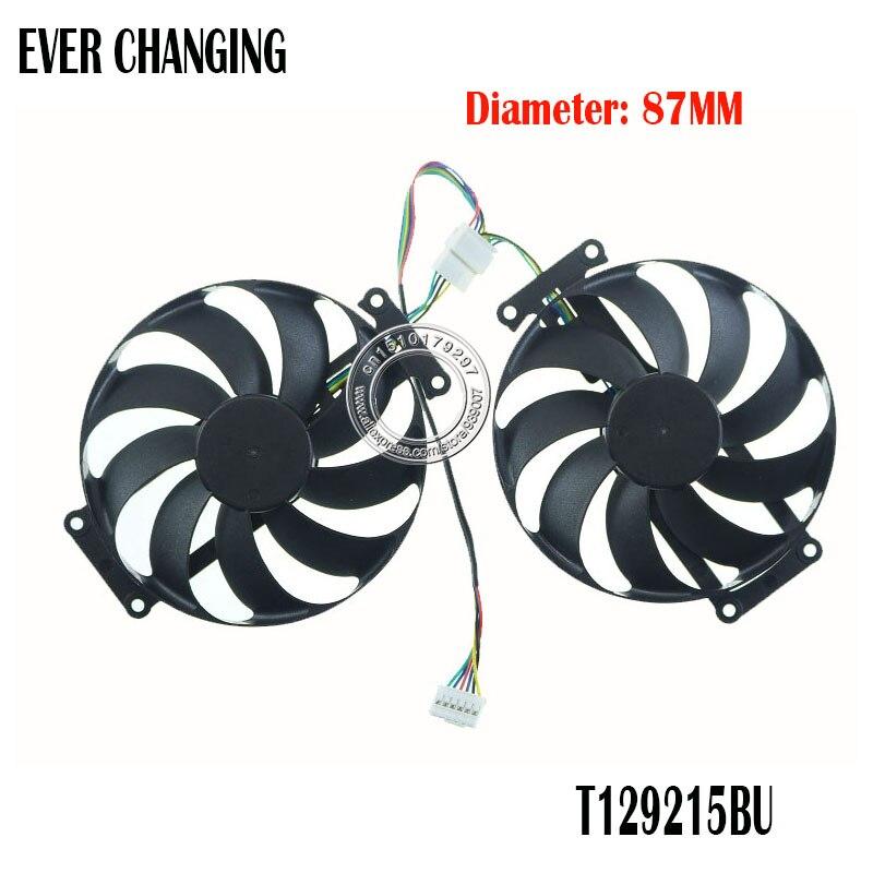 T129215BU RTX 2060 SUPER 2070 GTX1660 Ti Cooling Fan For ASUS GTX 1660 1660Ti DUAL EVO OC RTX RTX2060 Graphics Card Fan