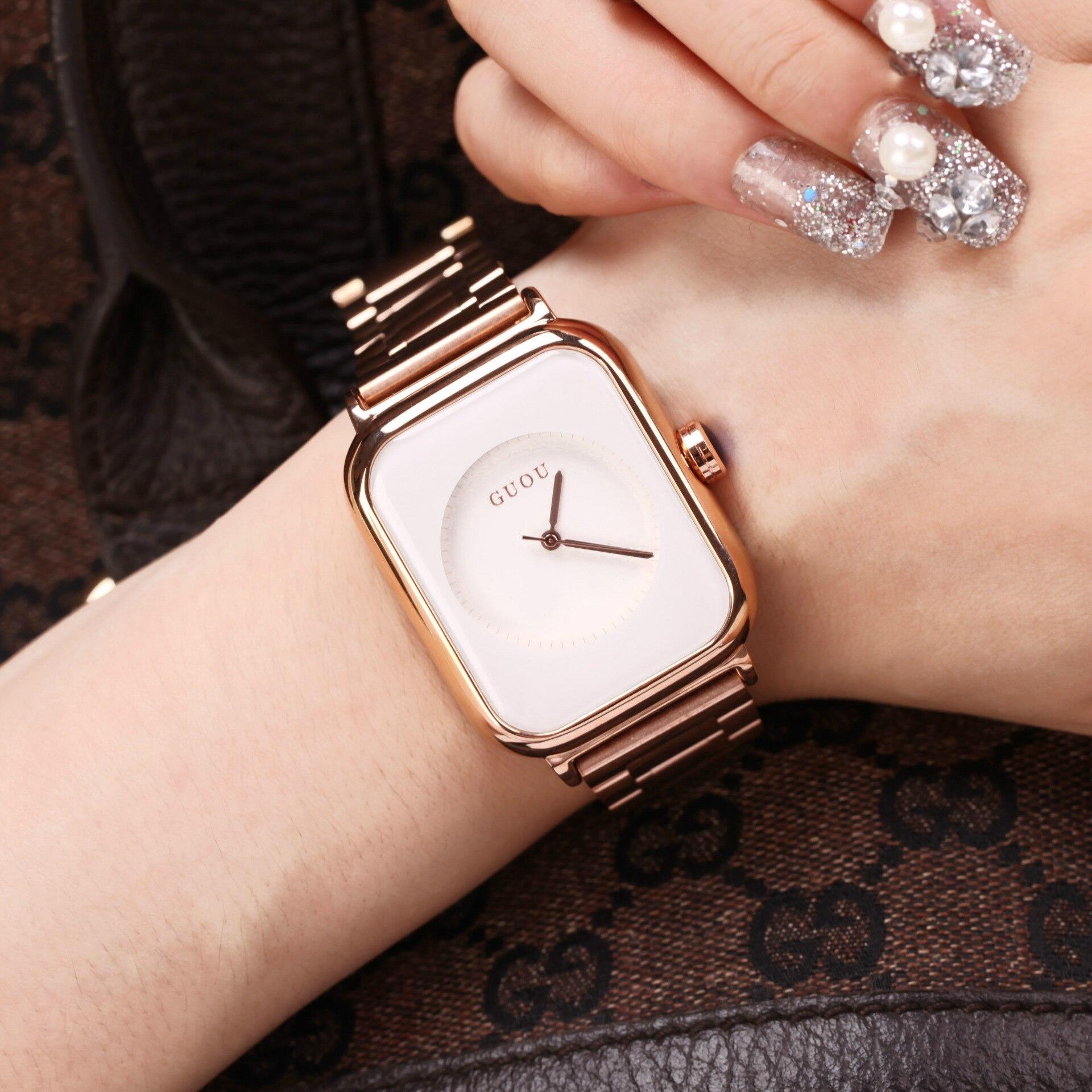 Relojes Para Mujer Women Watches Square Fashion Korean Version of The Leisure Girls Watch Water Resistant Quartz Luxury Gifts enlarge