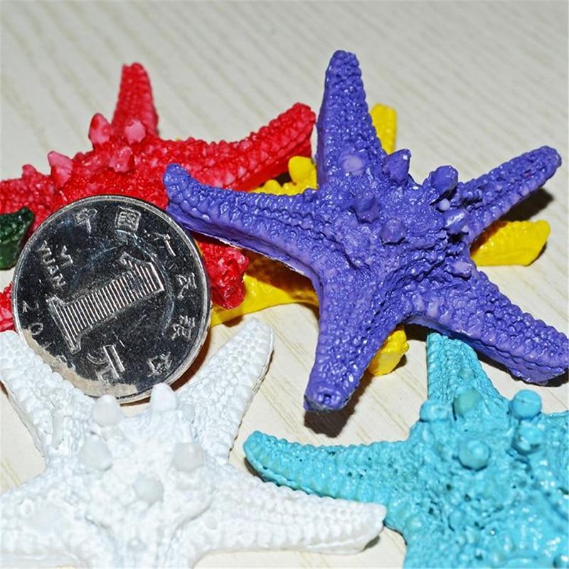 Имитация смолы на пару хлеб Морская звезда креативное домашнее украшение Средиземноморский цвет креативное домашнее украшение для аквари...
