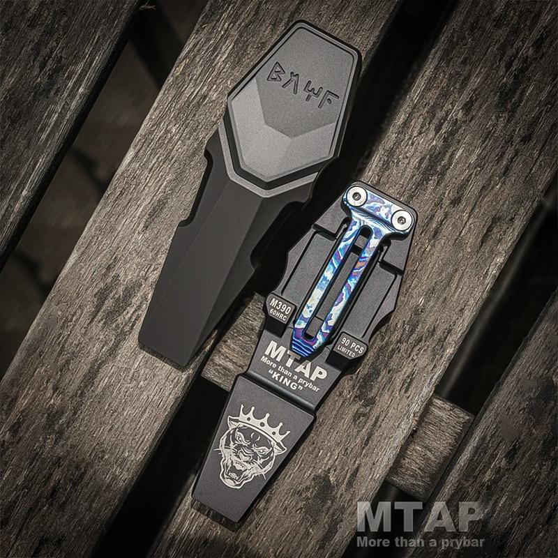 Bright MTAP Tactical Crowbar Papa Coin Titanium Alloy Portable Bottle Opener M390 Outdoor Self-defense Tool