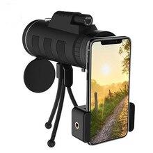 40x60 télescope portée Zoom objectif de téléphone portable pour Smartphone caméra Camping randonnée pêche avec boussole téléphone pince trépied