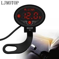 Super Waterproof Digital Panel Voltmeter Meter Tester Led Display For Kawasaki Z1000 Z1000SX/NINJA 1000/TouReR Z750R ZX10R