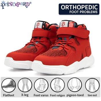 Princepard Kids Orthopedic Sneakers Autumn Winter Arch Support Shoes Club Foot Corrective Shoes for Flat Feet Toddler Girls Boys