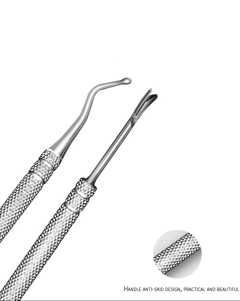 Nail Art Professional Dead Dkin Pusher Inflammation Nail Ditch Nail Remover Dead Skin Shovel Nail Peeling Tool Dead Skin Fork