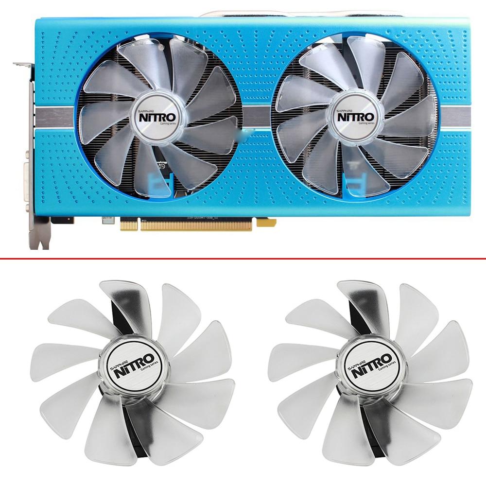 2pcs NEW CF1015H12D FD10015M12D RX580 ETH Cooling Fan GPU For  Sapphire RX470 RX590 RX580 RX480 RX570 NITRO SpecialEdition Fan