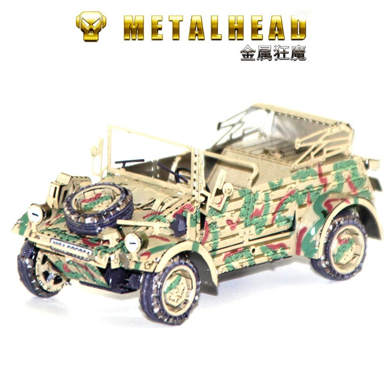 Rompecabezas 3D de metal VW82 KUBELWAGEN, mini modelo de colección de juguetes...