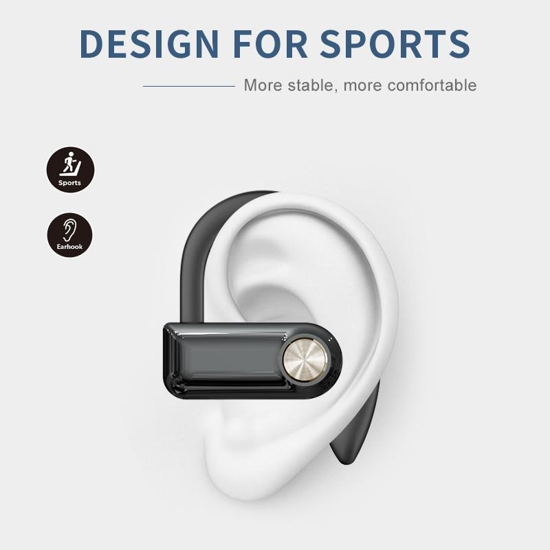2021 NEW Bluetooth Earphone 5.1 Sport Wireless Headphone 15 Hours Music Time LED Power Display Ear Hook Gaming Headset enlarge