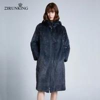 zirunking women real mink fur down coats for lady reversible natural fur long coat female winter warm fashion outerwear zc1904