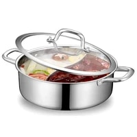 stainless steel hot with dividerhousehold hot pot soup pot soup base korean bbq cooker ramen cooker for gas stove