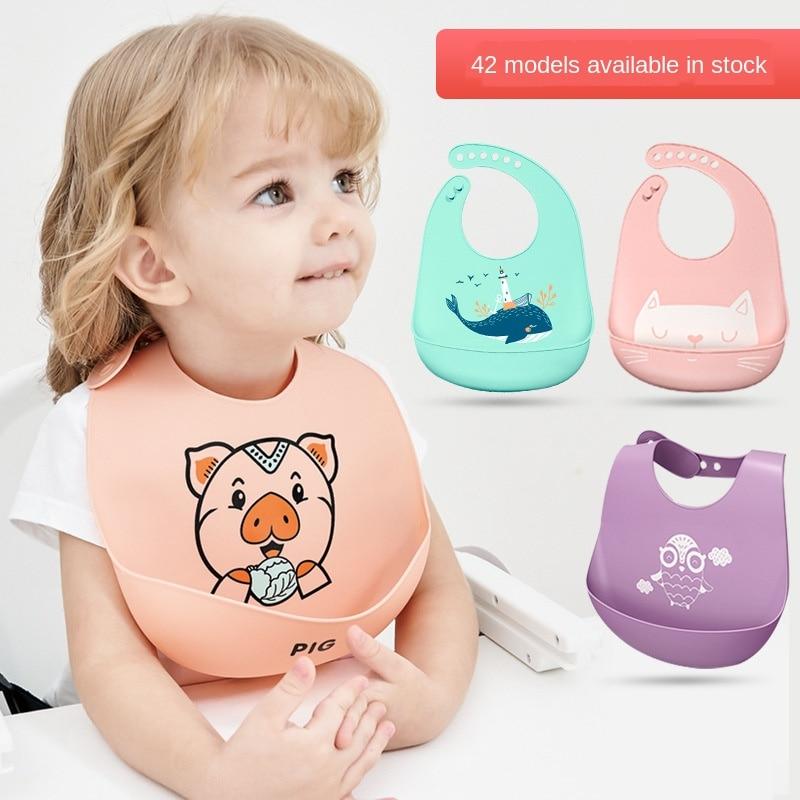 Силиконовый слюнявчик для еды ребенка, трехмерный водонепроницаемый сверхмягкий слюнявчик для кормления, модные фартуки, Слюнявчики, детс...