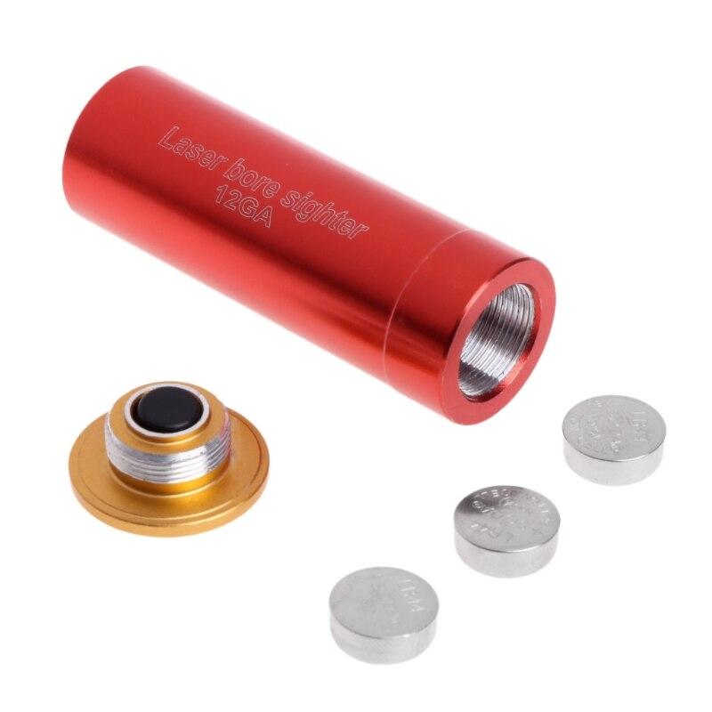 Neue Rote Laser Bohrung Anblick 12 Gauge Barrel Patrone Schussprüfer Für 12GA Schrotflinten Messung Instrumente Lasernivellierer    -