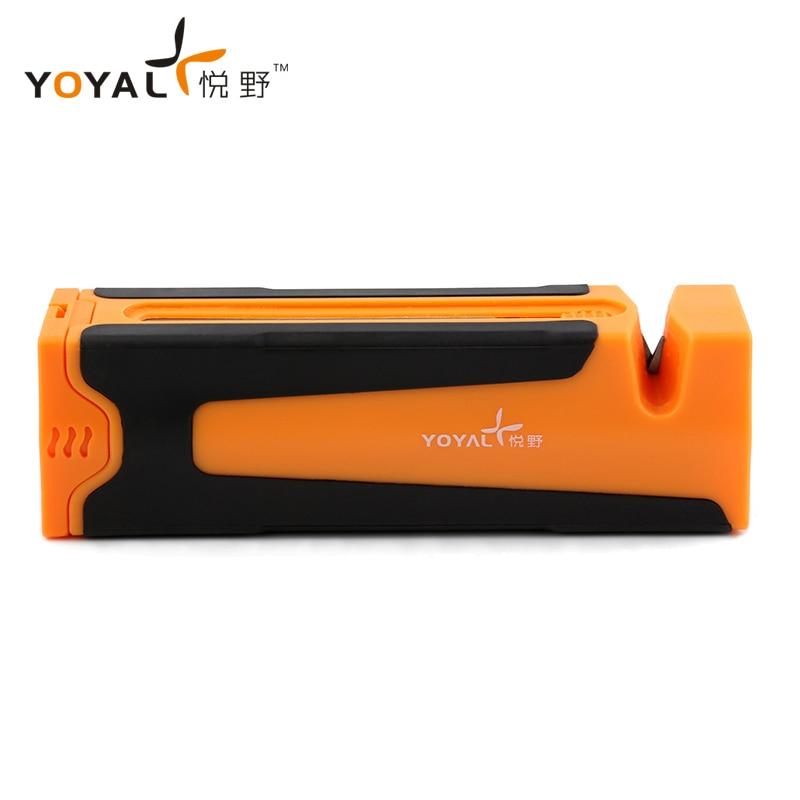 YOYAL profesional multifunción al aire libre Mini cuchillo afilador diamante carburo cerámica máquina para afilar cuchillos TAIDEA