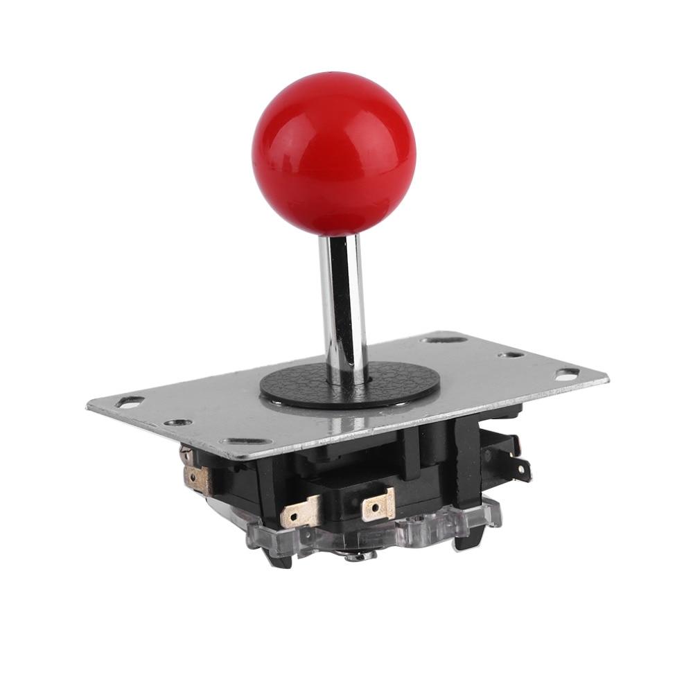 Joystick de arcada diy bola vermelha 8 way joystick luta peças vara para arcada jogo construção muito áspera