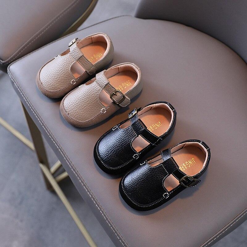 الخريف جلد طبيعي تنفس الأطفال أحذية من الجلد لينة وحيد الفتيان البازلاء الأحذية بلون عدم الانزلاق الفتيان الأحذية