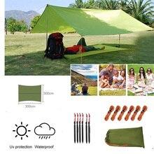 3m x 3m hamac pluie mouche tente bâche imperméable Camping auvent Protection UV abri solaire léger auvent abri