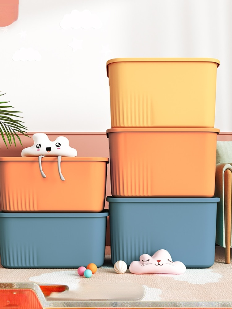مستطيل صندوق تخزين الملابس مكتب غرفة نوم صندوق تخزين كبير أدراج أشتات لعبة المنزلية Rangement تخزين الحاويات 50SNH