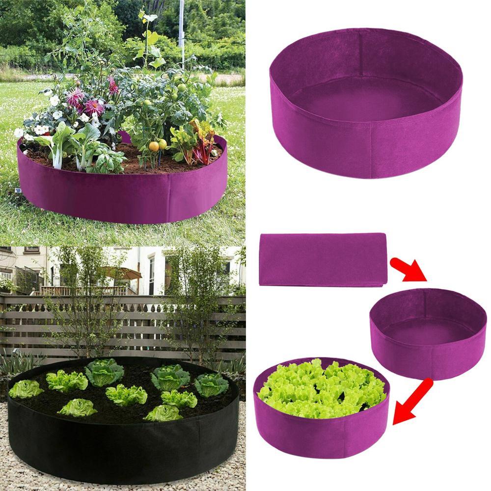 50 litro redondo plantación contenedor de la siembra bolsa elevada lecho de planta cama de flor del jardín de vegetales caja plantar flores olla