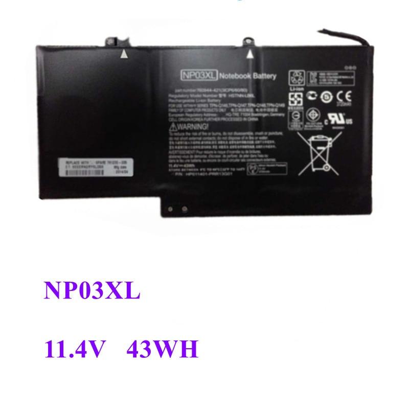 NP03XL Новый аккумулятор для ноутбука HP Pavilion X360 13-A010DX TPN-Q146 TPN-Q147 TPN-Q148 760944-421 15-U010DX 11,4 V 43WH tpn футболка