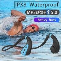 Наушники ddj Q1 с костной проводимостью, встроенная память, 8 ГБ, IPX8, водонепроницаемый музыкальный mp3-плеер, наушники для плавания и дайвинга, 15...