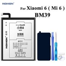 Batterie Nohon pour XiaoMi 6 BM39 Mi6/Xiao Mi 6 Bateria 3350mAh téléphone haute capacité réelle li-polymère Batteries outils gratuits