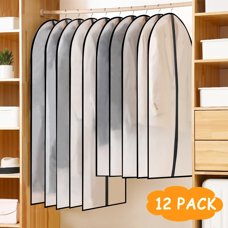 60×100/120cm12Cover for piecesstorage bag Hot Sale Clothing dust cover Hanging  Suit Coat Dust Cove