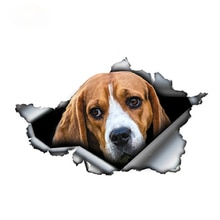 Car Stickers Decor Motorcycle Decals Beagle  Decorative Accessories Creative Sunscreen Waterproof PV
