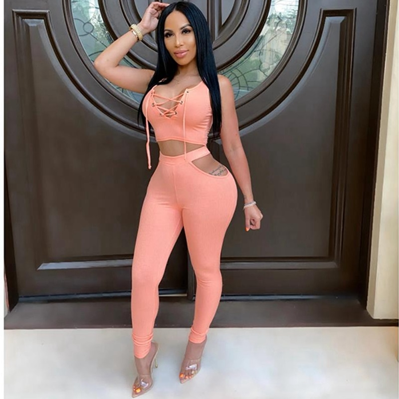 Club Sexy 2 Piece Outfits for Women Summer Pant Set Festival Clothing Matching Sets Cheap Elegant Bodycon Two Piece Women Set