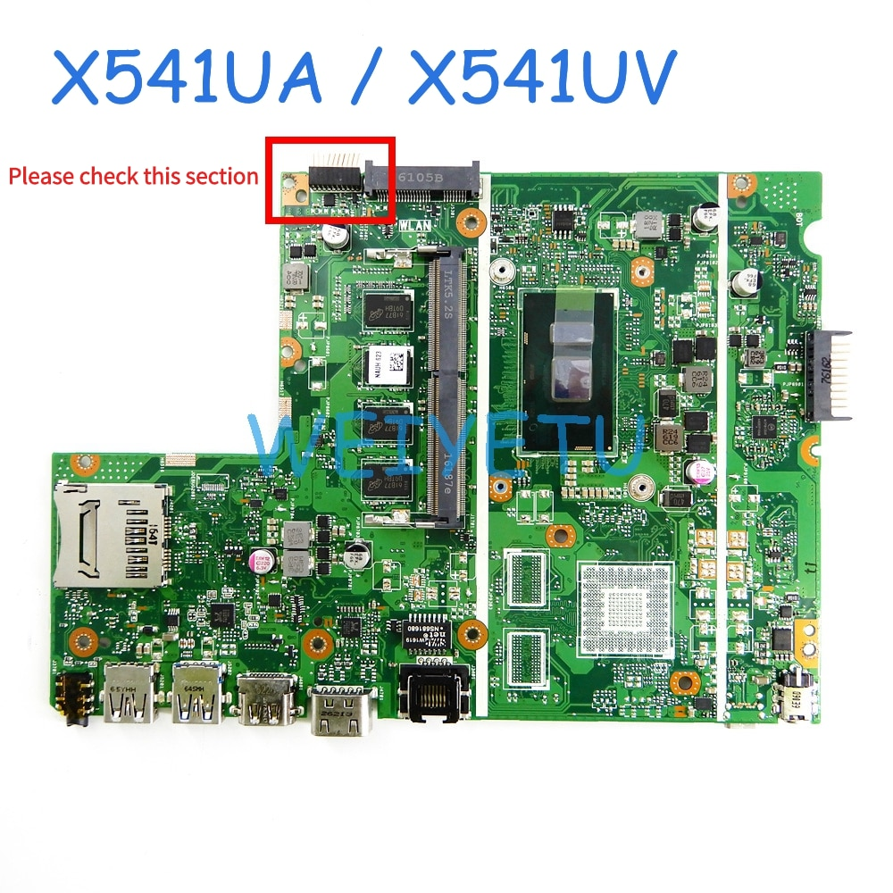X541UA DDR4 RAM With I3 I5CPU Motherboard For ASUS X541U X541UA X541UV X541UJ laptop motherboard Tested Working free shipping
