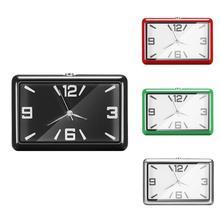 Universal Fashion Square Car Clock Interior Decoration Self-adhesive Electronic Vent Clip Watch Car