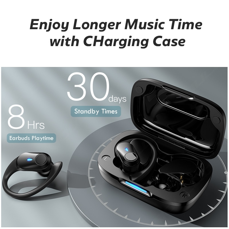 TWS Bluetooth-Compatible Earphone IPX7 Waterproof Wireless 5.1 Headphone Sports Noise Reduction Earduds With Microphone Headsets enlarge