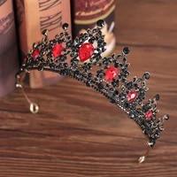 european drop green red crystal tiaras vintage baroque headbands pageant crowns bride headpieces bridal wedding hair jewelry