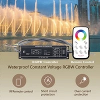 dc 12v 24v waterproof constant voltage led controller 5a x 4ch ip67 touch remote control set for rgb rgbw led strip lights