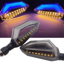 مصباح LED لإشارة الانعطاف للدراجات النارية مؤشر 12 فولت مصباح DRL للدراجة النارية كاواساكي ZX7R ZX10R نينجا 650 نينجا 300 400