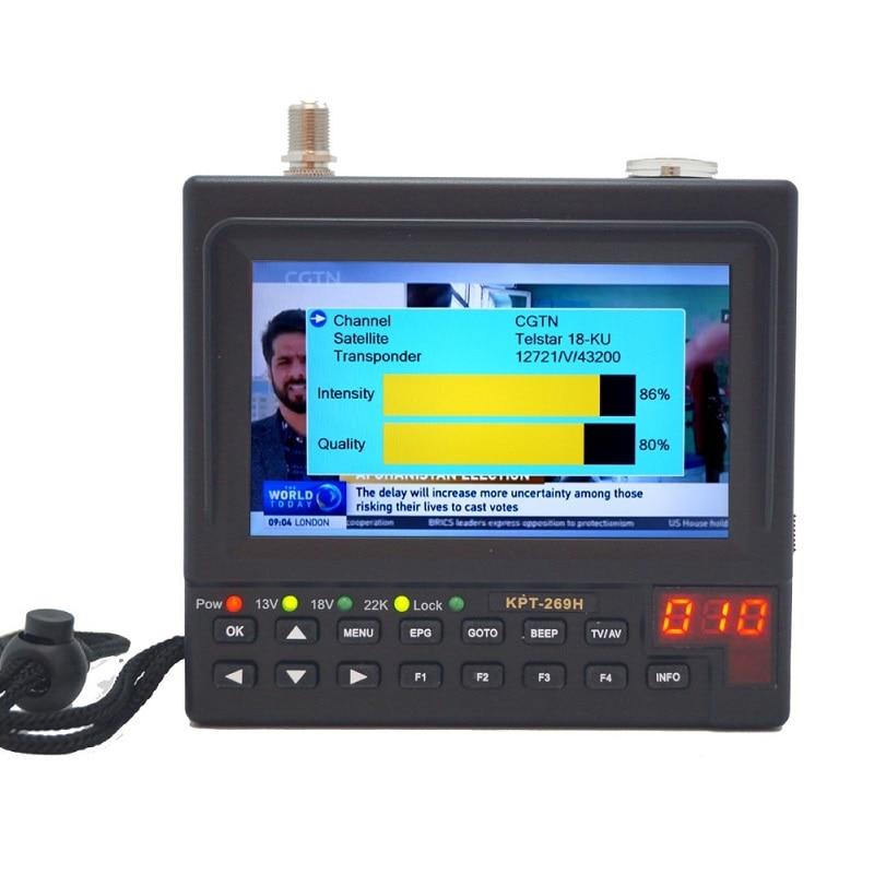KPT-269H DVB-S2 SatelliteFinder كامل HD الرقمية الفضائيات استقبال مكتشف متر MPEG-4 HD DVB-S الأقمار الصناعية مكتشف