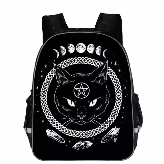 Sac à dos avec chat noir, pour adolescents, garçons et filles, Animal, pour écolier, nouvelle collection