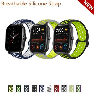 20mm 22mm Silicone Band Strap for Huami Amazfit GTS 2e GTS2 mini for Huami GTR 42mm/Neo Replacement Watchband
