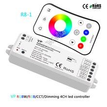 VP 2.4G sans fil RGBW/RGB/CCT/gradation 4CH DC12-24V 12A 4 en 1 contrôleur de lumière de bande led intelligent R8-1 RGB/RGBW à distance