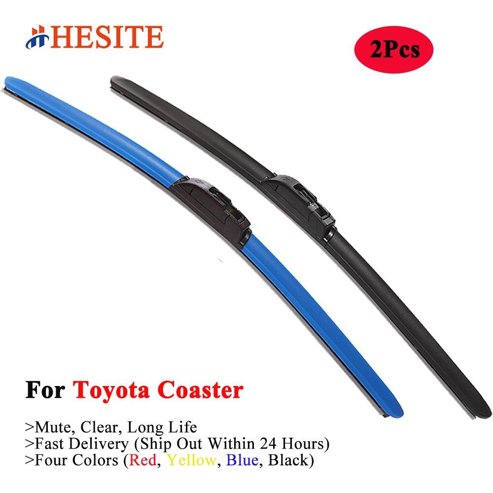 HESITE Blue Wiper Blades For Toyota Coaster RV Bus Caravan Camper Conversion XZB 40 50 51 70 2007 2012 2015 2020 2021 Year Model