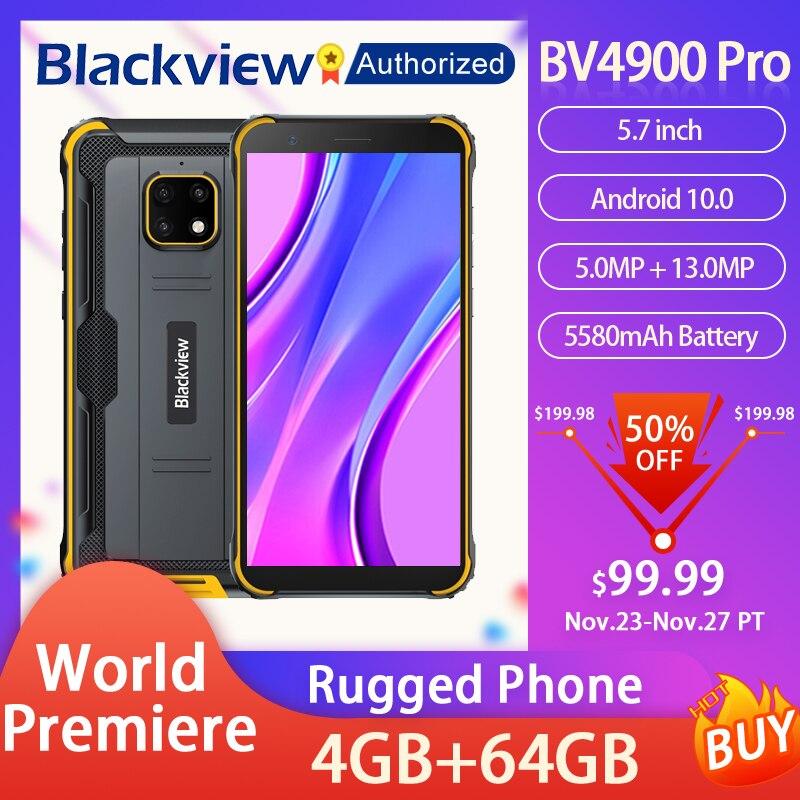 Смартфон Blackview BV4900 Pro защищенный, IP68, 5,7 дюйма, Android 10, 8 ядер, 4 + 64 ГБ, NFC, 5580 мАч