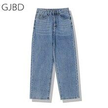 Women Jeans Streetwear Fashion High Waist Femme Denim Trouser Vintage Blue Casual Versatile Ladies S