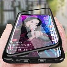 Магнитный стеклянный чехол для OPPO Realme XT X2 5 Pro A3S A5S A7 F9 R15 A8 A31 A9 2020 Reno 2Z чехол s Vivo V17 V15 Y15 Y17 Y12 Y19 2019