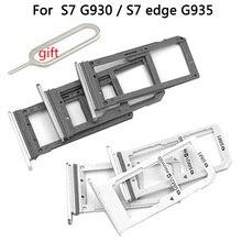 Single/Dual For Samsung Galaxy S7 Edge G935 G935F G935FD G935A Phone Housing New SIM Card Adapter An