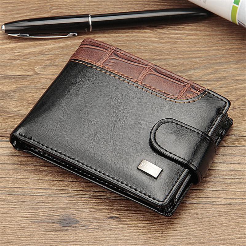 PU Leather Vintage Pocket Hasp Small Wallet Men Purse Card Holder Male Clutch Money Bag