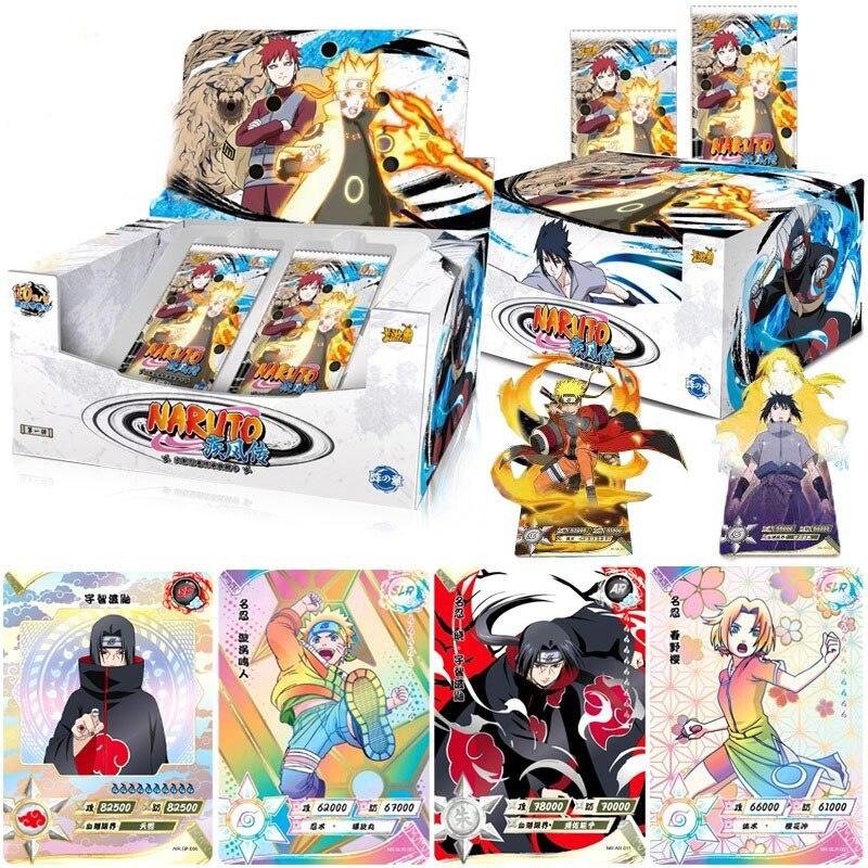 Оригинальные narutoe Uchiha Sasuke Uchiha Американская версия Хобби Коллекционные Предметы памятная игра Аниме коллекционные карты