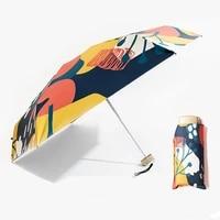 mini pocket 5 folding sunshade sunny umbrella rain women sun protection uv umbrella portable compact folding sun umbrella