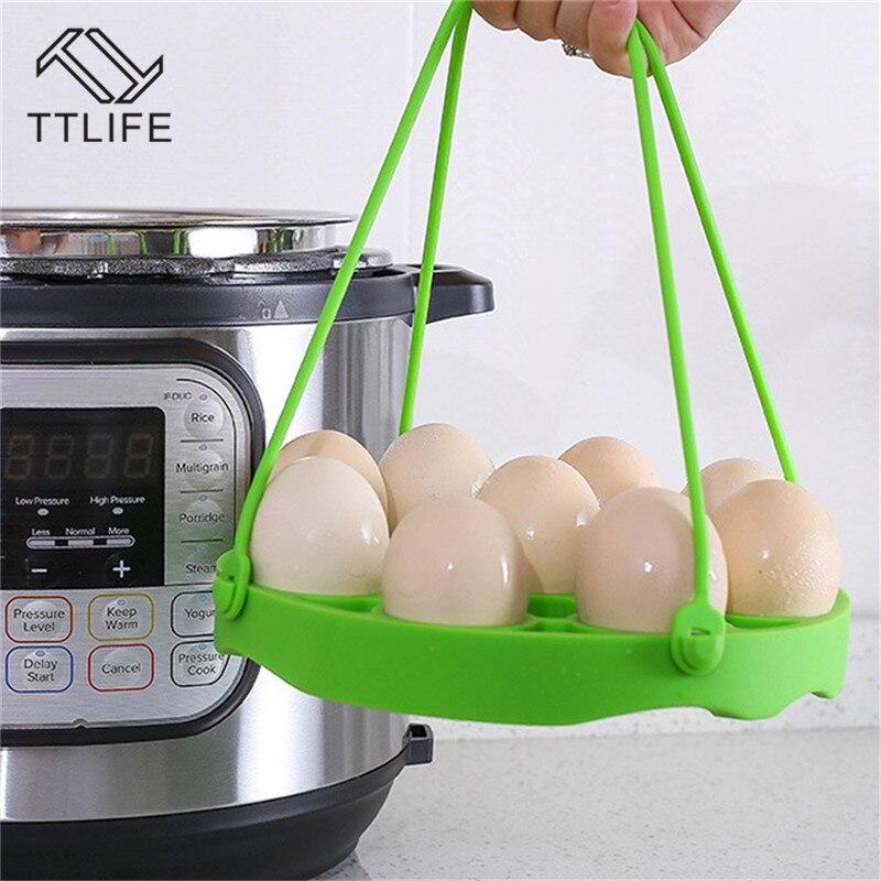 TTLIFE Hot 4 unids/set olla a presión de silicona vaporizador Rack aislamiento almohadilla de silicona cubierta de ventilación 7 agujeros caja de suplemento de alimentos