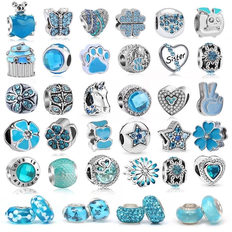 2 unids/lote, oferta especial, 45 estilos, abalorios de animales de flores hermanas, compatibles con pulseras de abalorios Pandora, collares para mujer, fabricación de joyas