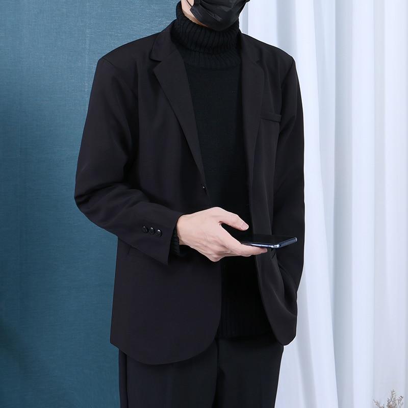 Suelto Casual chaqueta de los hombres de moda ajustadas coreanas de manga...