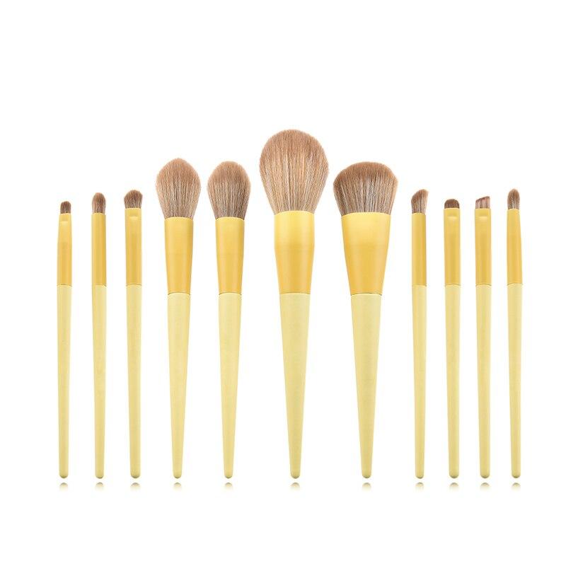 Newest 11pcs Unicorn Makeup Brushes Set Yellow High Quanlity Foundation  Face Power Eye Beauty Cosmetic Tool Pincel de maquilla