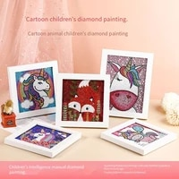 jieme diamond painting by number for kids animals picture crystal rhinestone kits diamond embroidery handicrafts decor gift